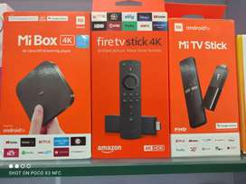 Mi box 4k.   Mi TV stick.   Firestike 4k