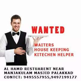 waiters, house keeping, kitchen helper