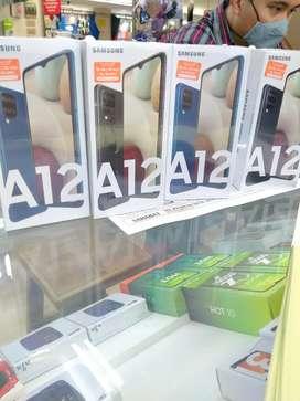Samsung A12 ram 4/128gb free temper gless