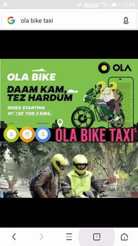 I need some OLA byker at Bhubaneswar location, byke,dl, RC, bank pass
