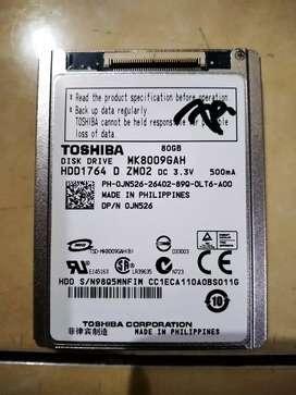 "Hardisk 80gb laptop mini 1.5"" (Soket kabel fleksibel)"