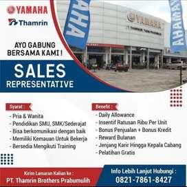 Lowongan kerja untuk Sales Excekutif Yamaha Thamrin Brothers Prabumuli