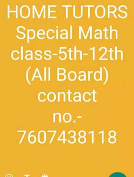 MATH TEACHER,HOME TUTORS,MATH COACHING TEACHER HOME COACHING TUTORS