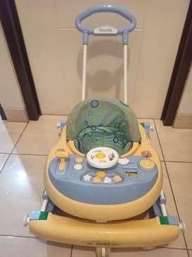 Baby Walker Family 2121 Warna Biru Kuning Bekas