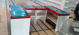 Cash counter bakery counter chiller and hand basket shoping troli,
