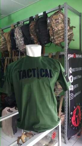 Kaus Tactical Hijau Lengan Pendek (MEDAN TACTICAL)