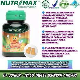 Nutrimax C Plus Junior menjaga daya tahan tubuh pada anak (rasa jeruk)