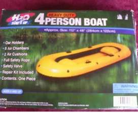 "AWESOME H2O HEAVY DUTY 4-PERSON BOAT INFLATABLE BOAT 112"" X 48"""