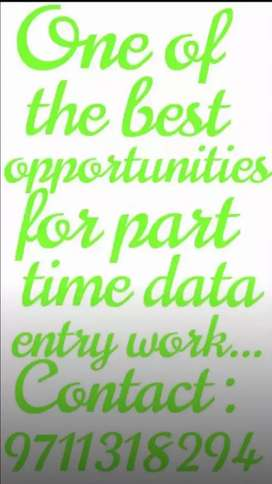 Basic needs to work for online part time data typing work...