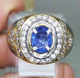 Cincin Batu Blue Safir Ceylon Srilanka Asli Natural