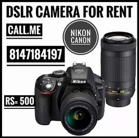 DSLR camera for rent 1day (Rs 500)