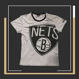 T-shirt Kaos Basket Second Branded nba nets Size L fit M High Quality