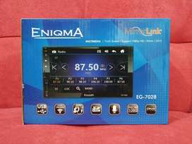 Headunit double din deckless non cd enigma glass panel fullhd bluethot