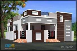 100 sq yd, 3Bedroom, 1 Bathroom ,Single Line,Facing Park, Duplex House
