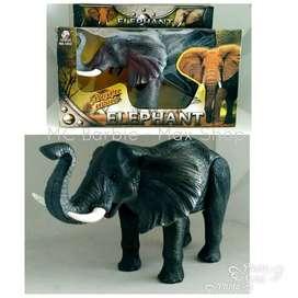 Mainan Hewan Gajah bisa Jalan & Bersuara / Mainan Robot Gajah