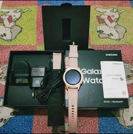 Samsung galaxy watch 42 mm rose gold original sein full set komplit