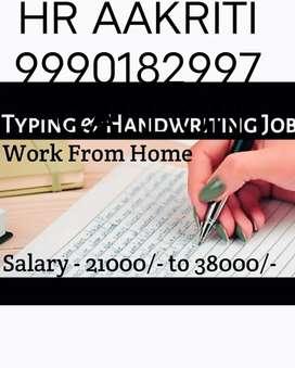 Simple typing work n handwriting work