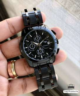 Branded Calibre Stylish Fashion Stainless Steel Casual Watch For Men