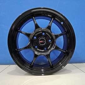 Velg Mobil HSR Wheel R16 Model KEEROM H5X114,3 Semi Matte Black