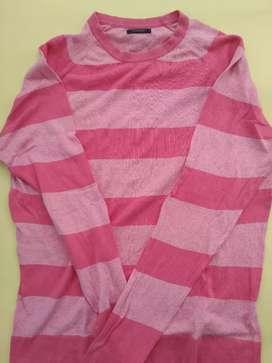 Kaos rajut lengan panjang Zara Man size XL kecil