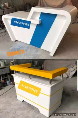 Reception table cash counter office tables office furniture available
