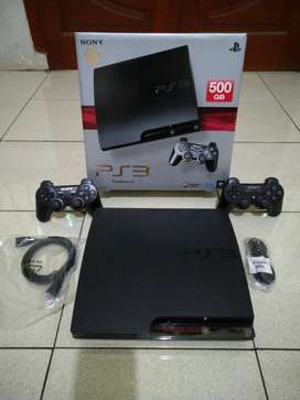 PS 3 Slim Seri terbaik ANTI YLOD hardisk 500gb full 50 game 2 Stik lkp