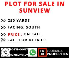 250 YRD PLOT FOR SALE IN SUNVIEW