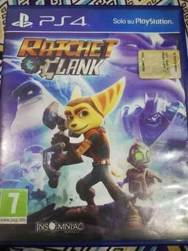 Blue Ray CD Rachet and Clank PS4 game