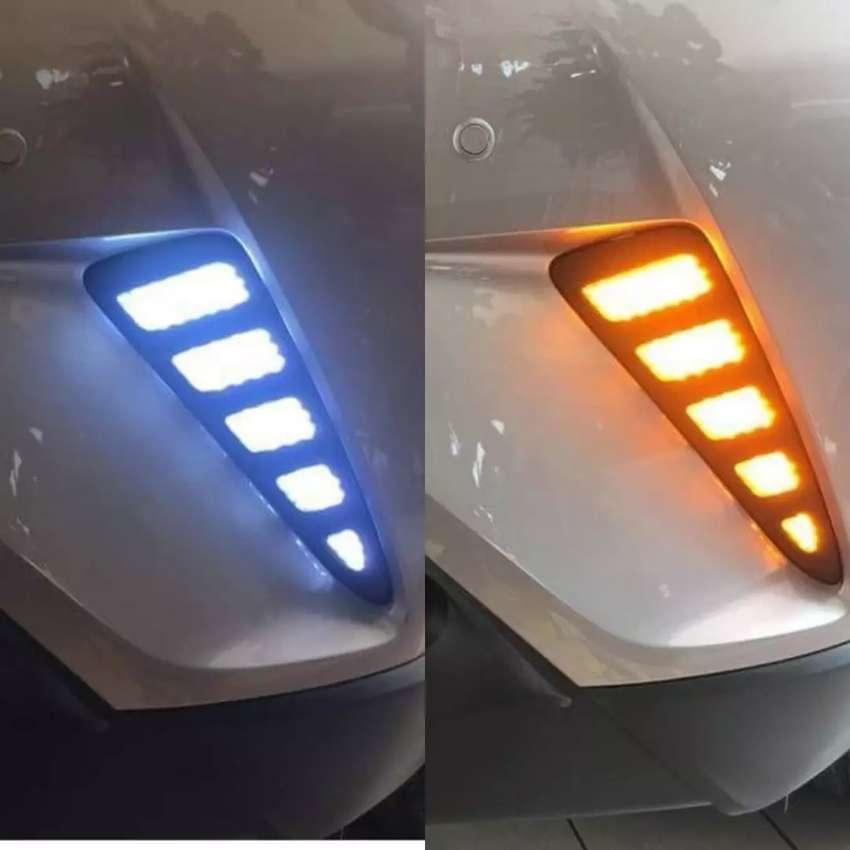 DRL LED depan bumper bemper reflektor toyota CHR C-HR + sein 0