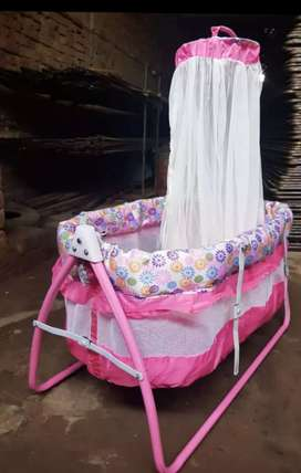 Baby cradle (jhola) with mosquito net