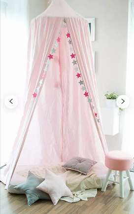 Children bed canopy round dome