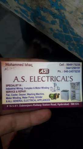 All general electrical appliances
