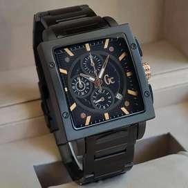 Jam tangan Pria Gagah Persegi GC stainless