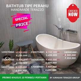 Bathtub Terazzo Bali Type Perahu Standing P140cm