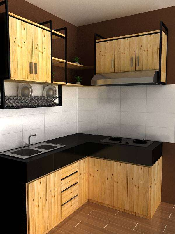 Kitchen Set Jati belanda Industrial 0