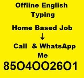 Typing Job - Part Time English Page Typing Job Avilable here
