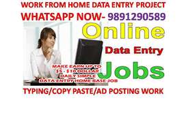 PART TIME work Offline Home based job Data entry typing work