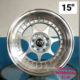 Enkei rs velg celong 15x7/8.5 8x100/114.3 unt jazz yaris swiftagia ayl