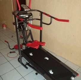 new treadmill manual 6 fungsi monitor elektrik hand pulse