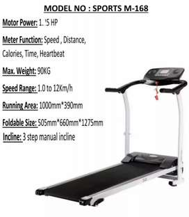 Motorized Electric Folding Treadmill Running Machine 1.5 HP