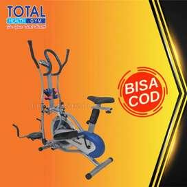 sepeda crosstrainer orbitrack plat multifungsi total COD Cilacap