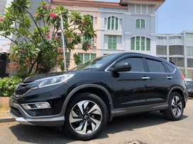 Honda CRV 2.4 Prestige 2016 Facelift Black Sunroof PBD Km30rb Antik