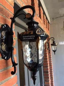Lampu dinding gantung klasik eropa dekorasi hias taman pagar pilar