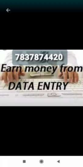 Genuine online part time job data typing