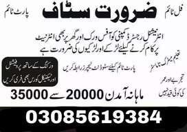Jobs available for Lahore students