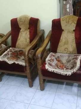 Indian Take wood sofa set.