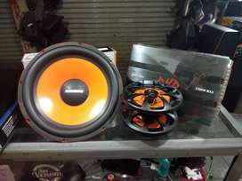 Paket Audio Mobil Power DHD Subwoofer Coustik and Speaker Coaksial MRZ