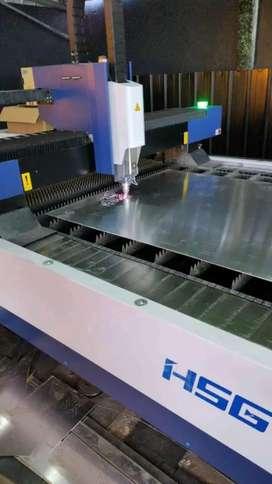 Laser cutting metal custom motif