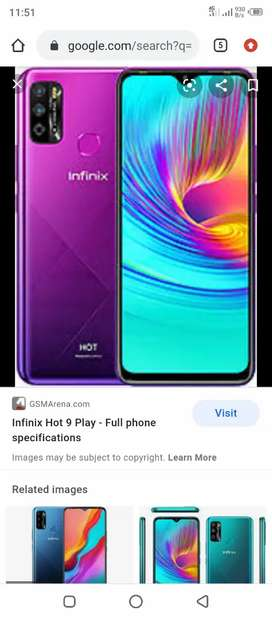 Infinix Hot 9 Play 4/64 with Box Charger 10/10