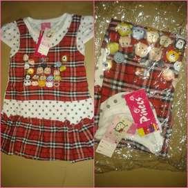Baju dress kotak kotak untuk anak bagus enak dipakai dan manis